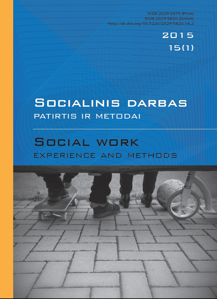 """Social work: experience and methods"" 2015 Nr.15 (1)"