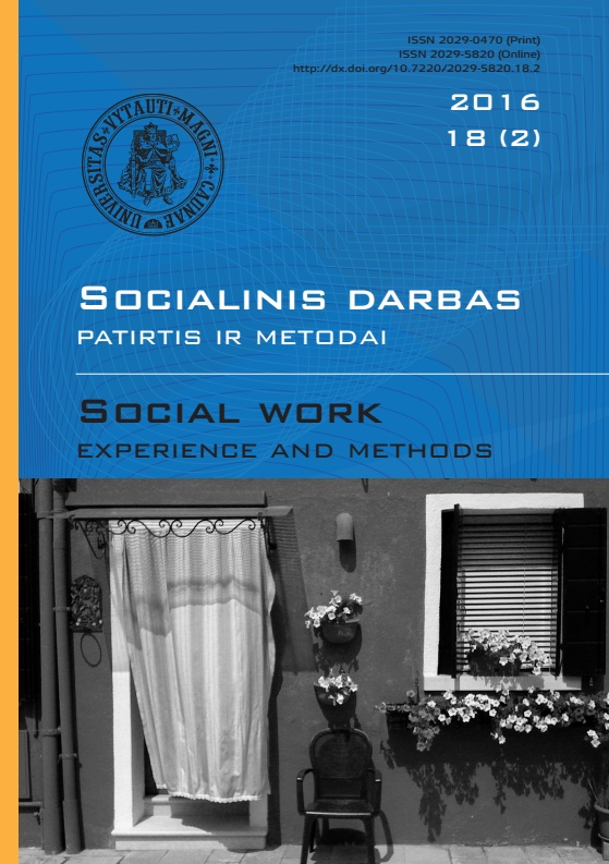 """Social work: experience and methods"" 2016 Nr.18 (2)"