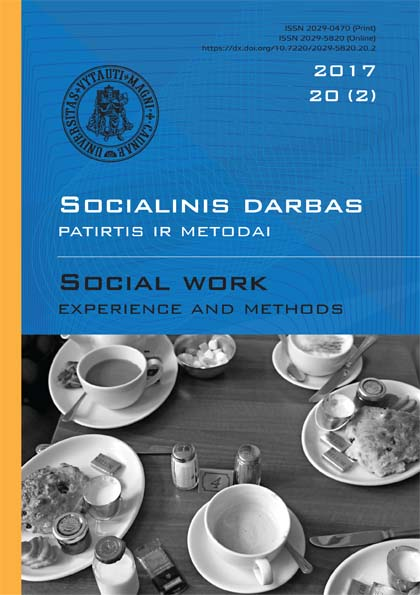 """Social work: experience and methods"" 2017 Nr.20 (2)"