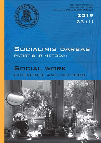 """Social work: experience and methods"" 2019 Nr.23 (1)"