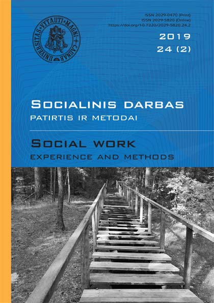 "Category ""Social work: experience and methods"" 2019 Nr.24 (2)"